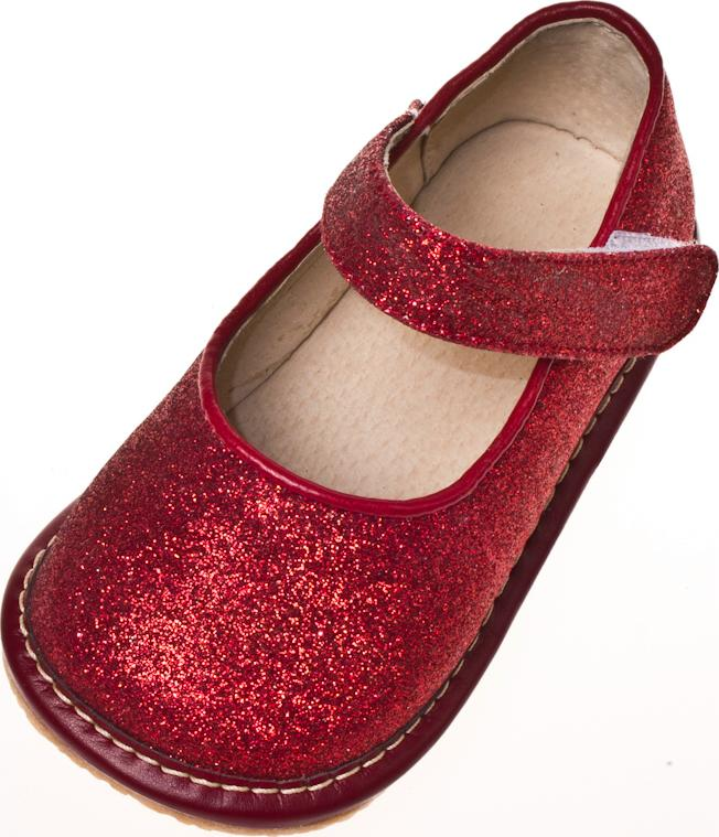 Girl Sparkle Mary Jane Squeaky Shoes Ruby Red Toddler