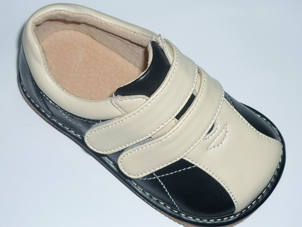 Squeaky Leather Bowling Black Shoes Toddler