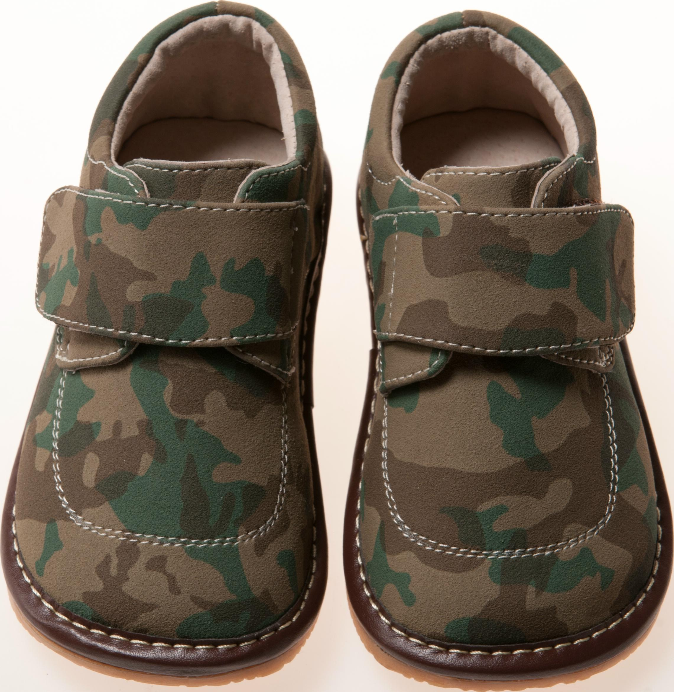 Leather Boy Camo Squeaky Shoes Toddler